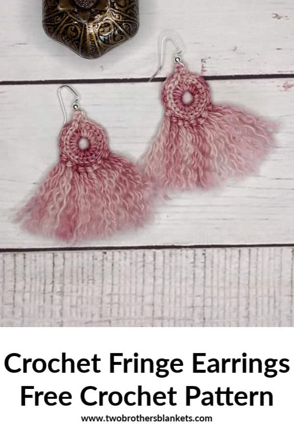 Crochet Fringe Earrings Free Crochet Pattern