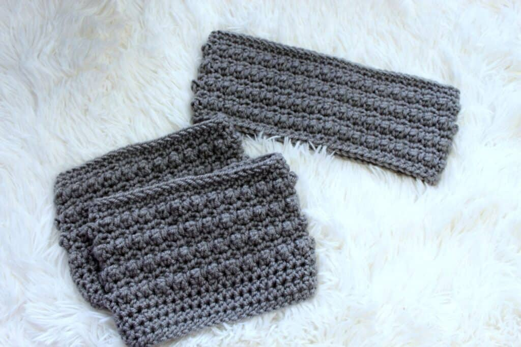 Little Textures Earwarmer and Boot Cuffs Set Free Crochet Pattern