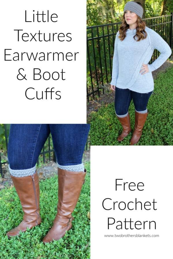 Little Textures Earwarmer and Boot Cuffs Free Crochet Pattern