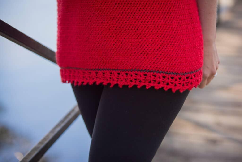Tunic Length Crochet Garment