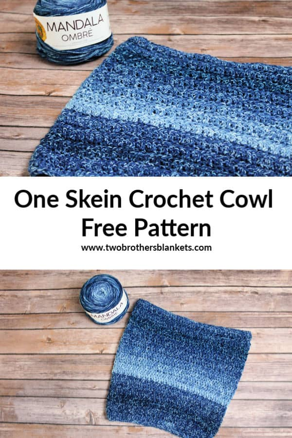 One Skein Crochet Cowl Free Pattern
