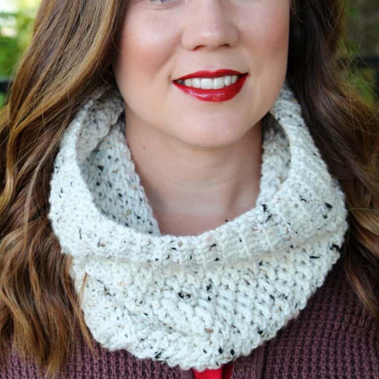 Textured Crochet Cowl Pattern- Savannah Cowl