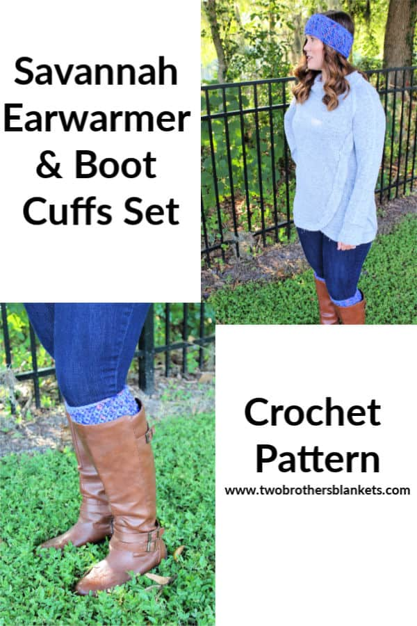 Savannah Earwarmer and Boot Cuffs Set Crochet Pattern