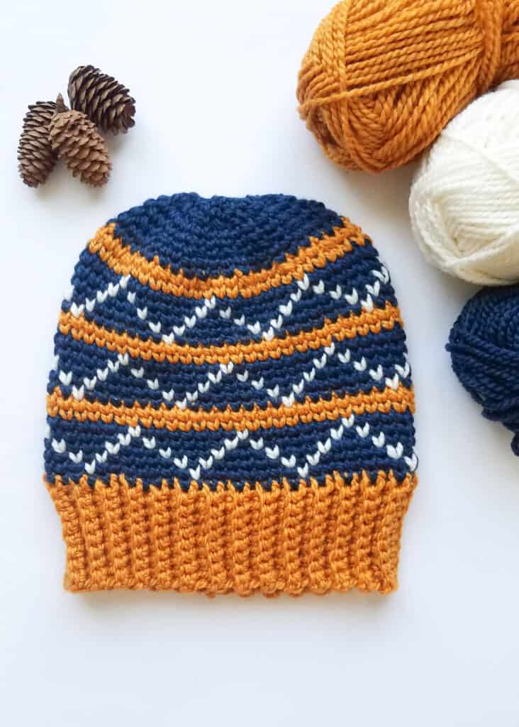 Harper Pine Beanie Free Crochet Pattern