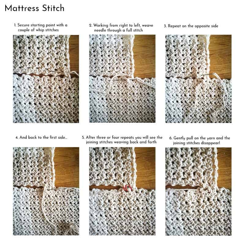 Mattress Stitch Photo Tutorial