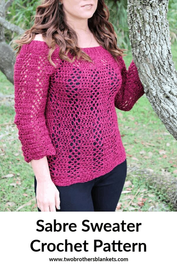 Sabre Sweater Crochet Pattern