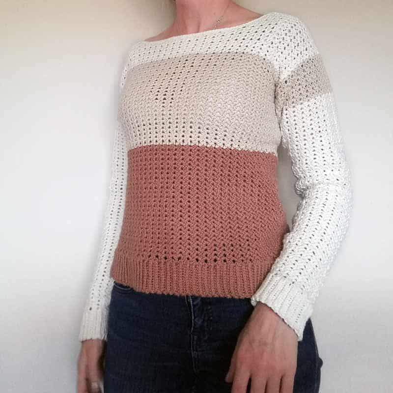 Cafe' au Lait Sweater Free Crochet Pattern