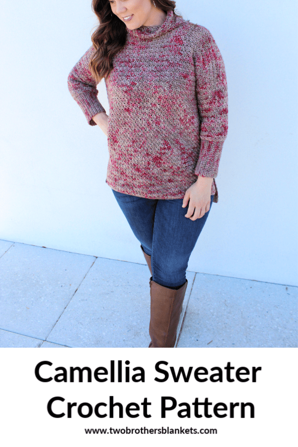 Camellia Sweater Crochet Pattern Pin