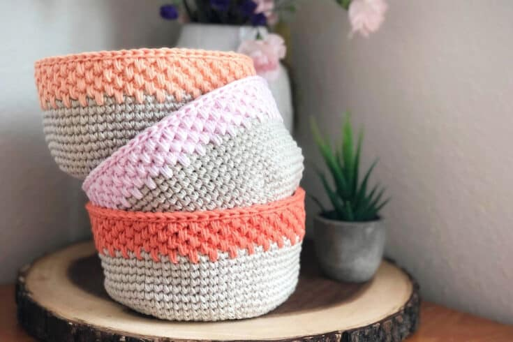 Easy, Modern Crochet Storage Basket - Free Crochet Pattern