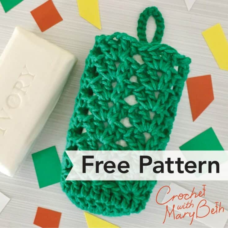 Iris Stitch Soap Cozy – Free Crochet Pattern with Chart