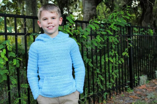 Children's Houston Hoodie Free Crochet Pattern