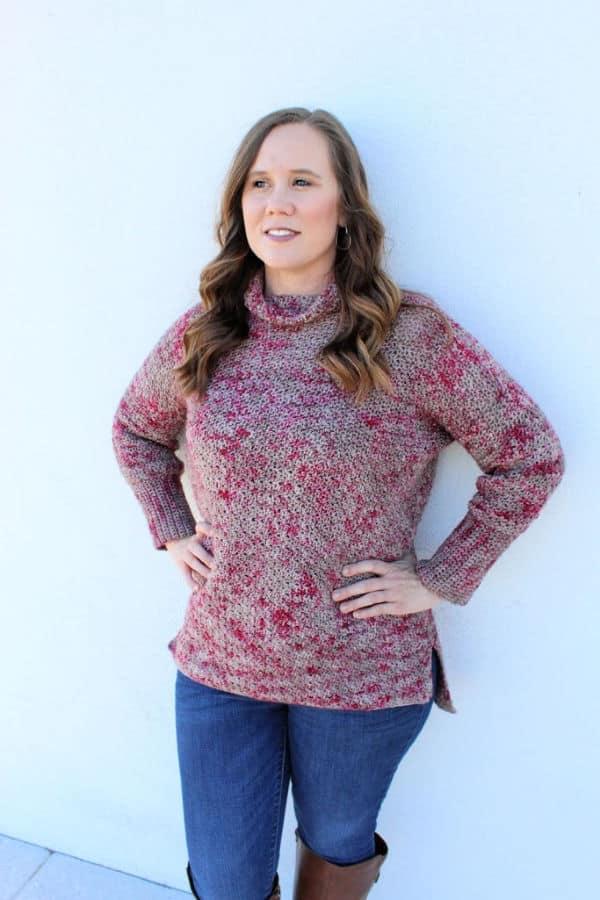 Camellia Sweater Crochet Pattern