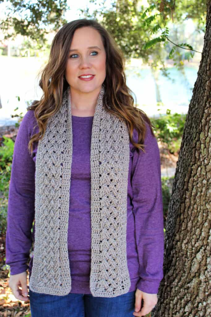 Celtic Weave Scarf Crochet Pattern