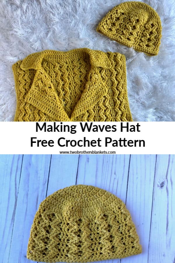 Making Waves Hat Free Crochet Pattern