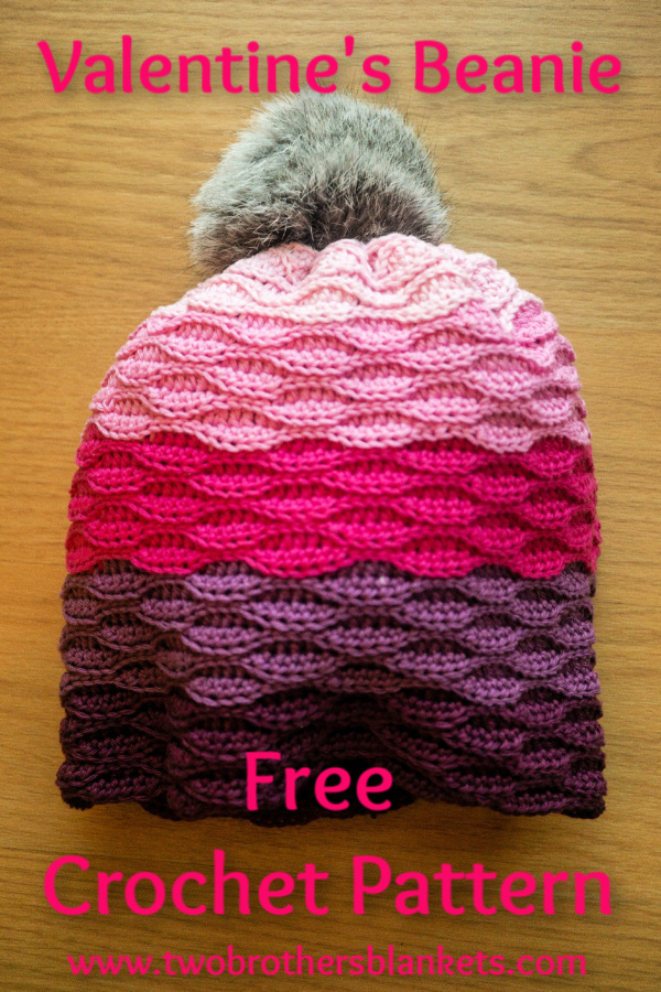 Valentine's Beanie Free Crochet Pattern