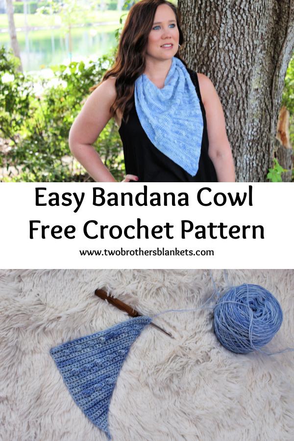 Easy Bandana Cowl Crochet Pattern