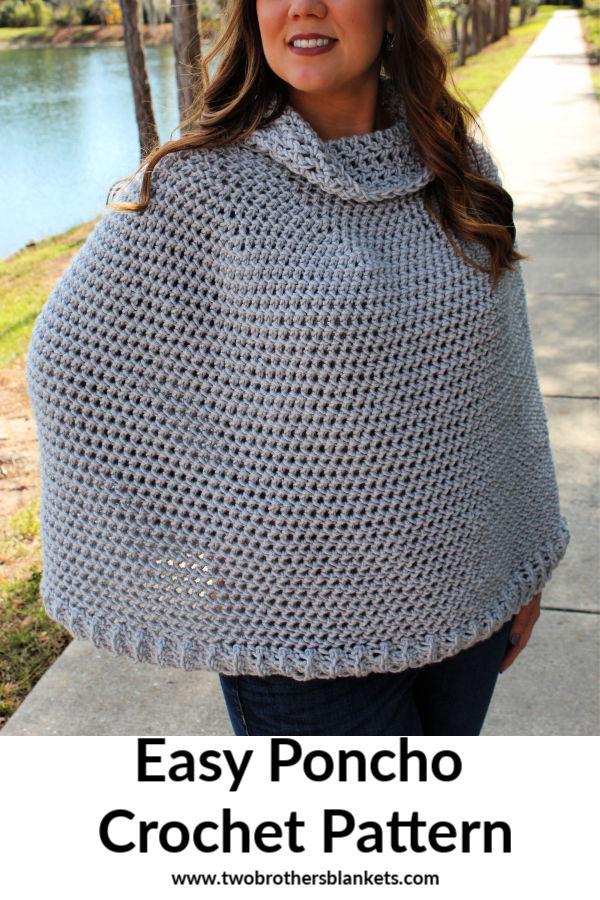 Easy Poncho Crochet Pattern