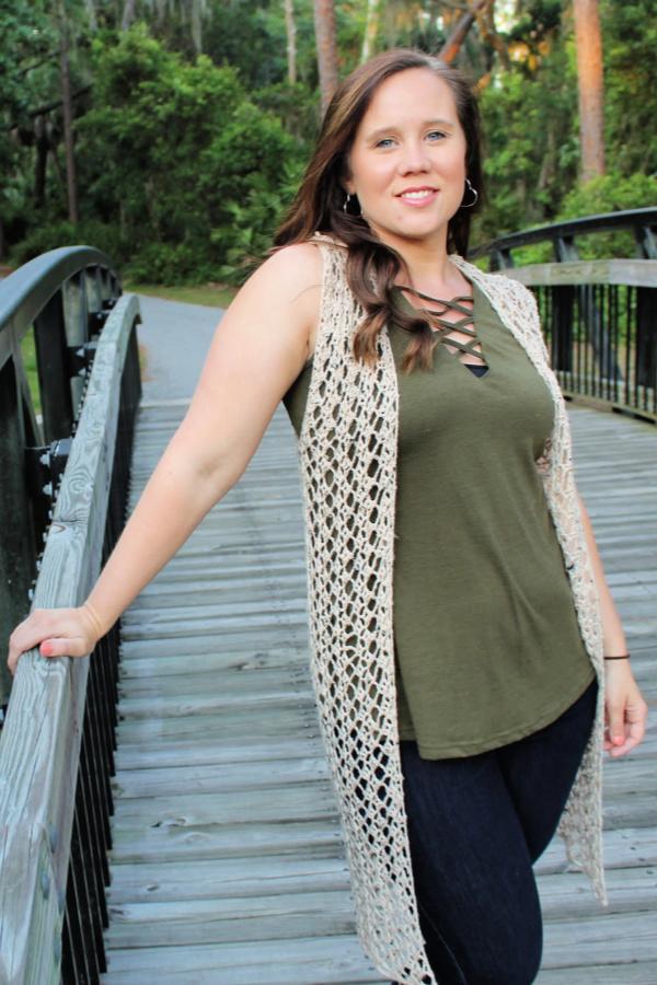 Summer Stroll Vest Crochet Pattern