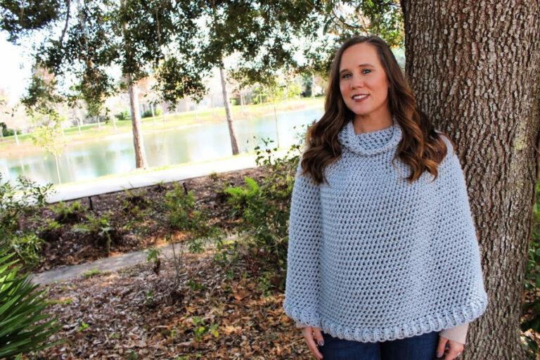 Paisley Poncho Sweater Crochet Pattern