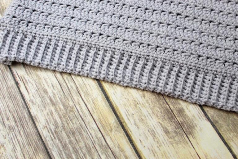 How to Crochet Ribbing Trim
