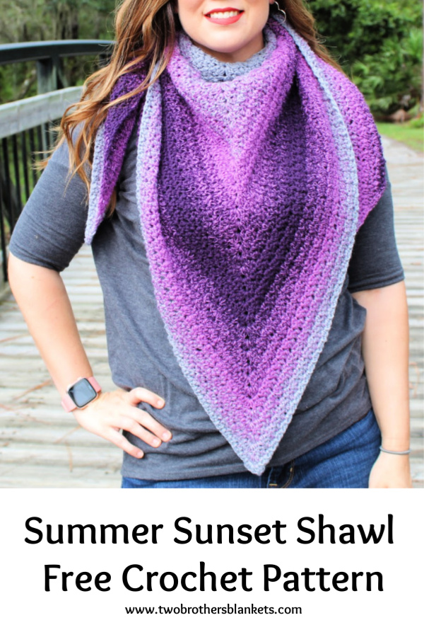 Summer Sunset Shawl Free Crochet Pattern