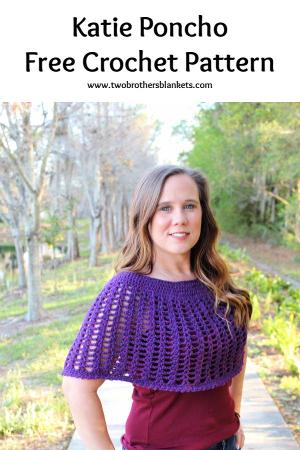 Katie Poncho Free Crochet Pattern