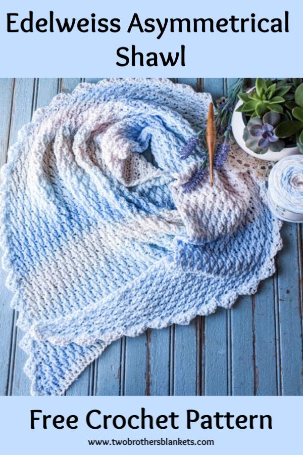 Edelweiss Shawl Free Crochet Pattern