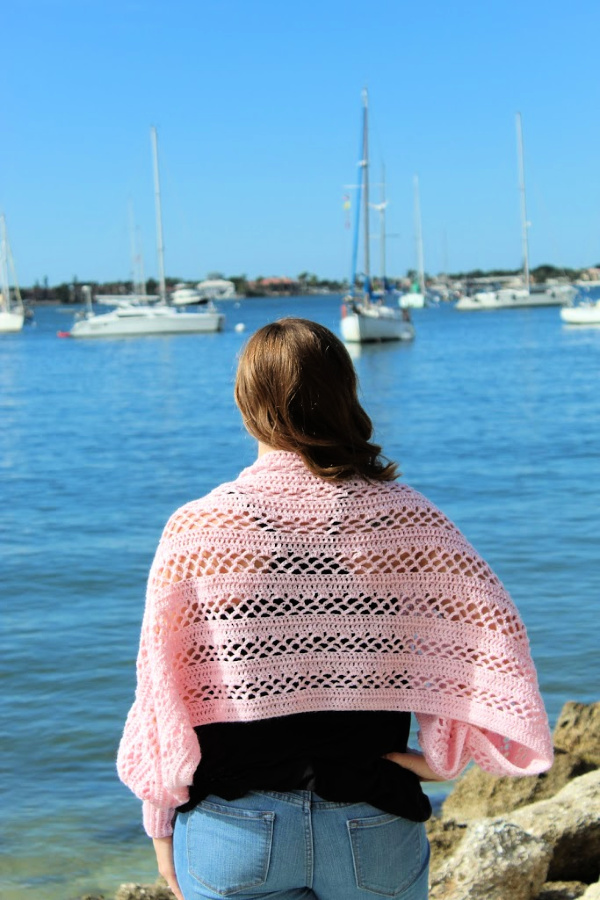 Crochet Shawl with Sleeves
