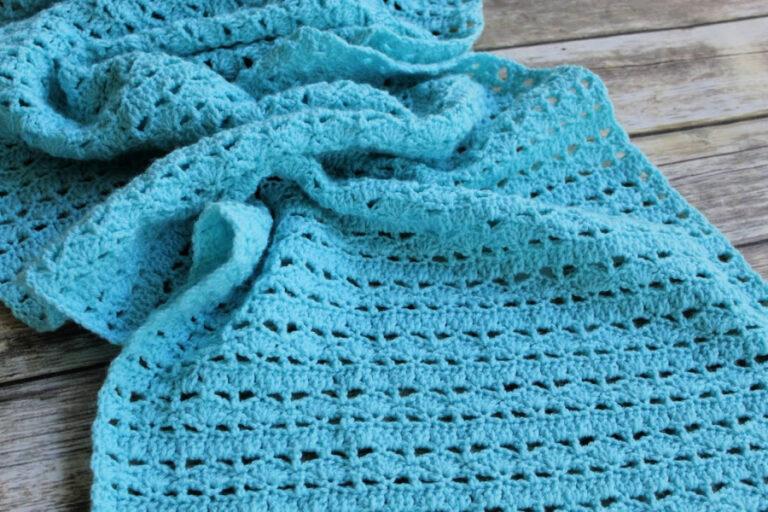 Crochet Prayer Shawl Pattern – Mighty Waves Prayer Shawl