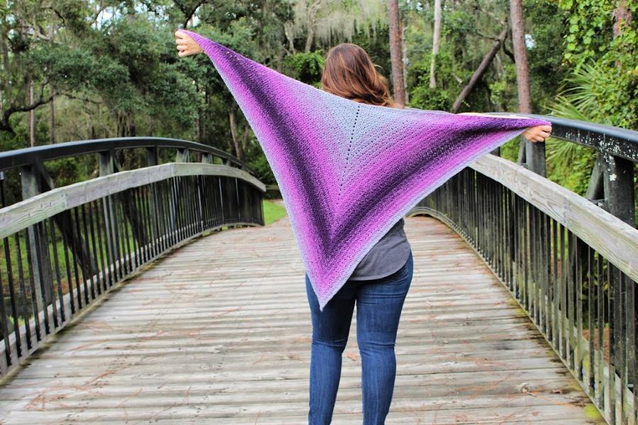 Summer Sunset Shawl Free Crochet Pattern