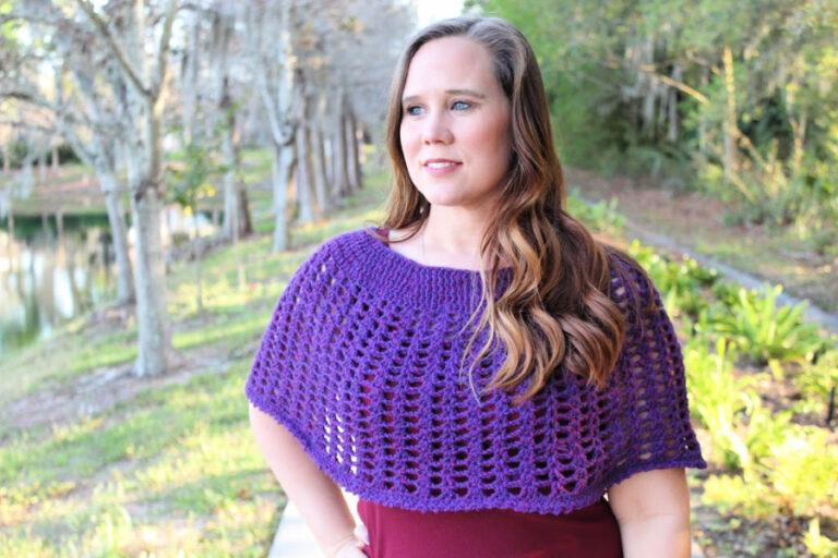 Katie Crochet Poncho -Free Pattern