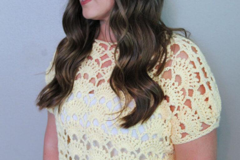 Lacy Crochet Top Pattern- Santa Rosa Tee