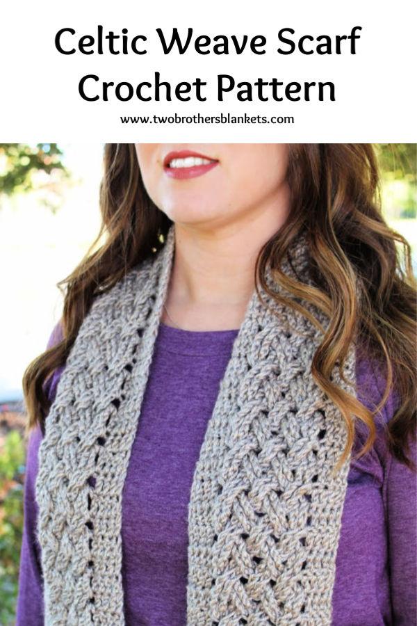 Celtic Weave Scarf Crochet Pattern