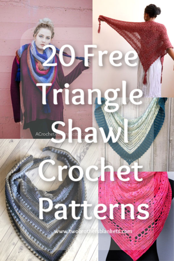 20 Free Triangle Shawl Crochet Patterns