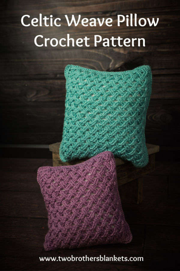 Celtic Weave Pillow Crochet Pattern
