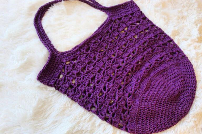 Crochet Market Bag Pattern – Calla Lily Bag