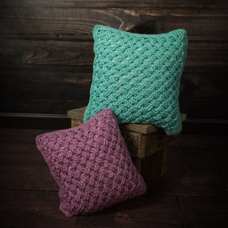 Celtic Weave Pillow Crochet Pattern