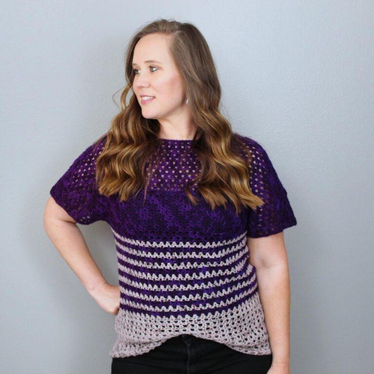 Women's Crochet Top Pattern- Leilani Raglan