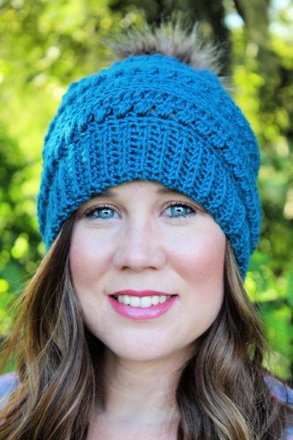 Woman wearing the Hattie Hat.
