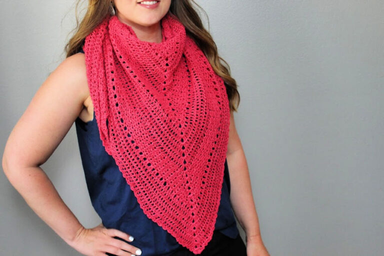 Free Crochet Triangle Shawl Pattern- Meadowsweet Shawl
