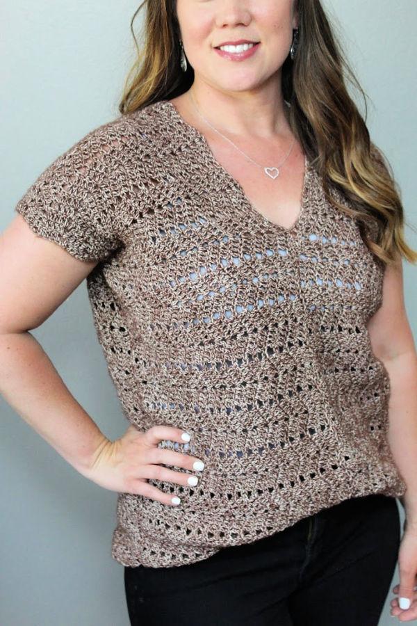 Chevron Crochet Top Pattern- Chevy Tee