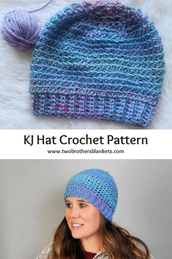 KJ Hat Crochet Pattern Pin
