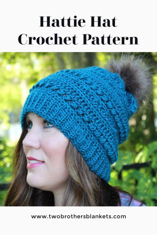 Hattie Hat Crochet Pattern pin