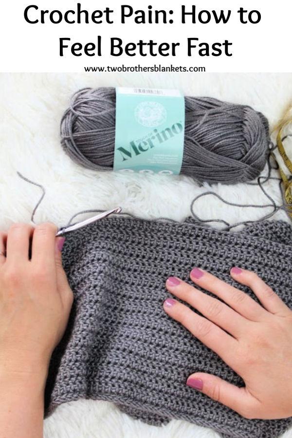 Crochet Pain: How to Feel Better Fast Pinterest