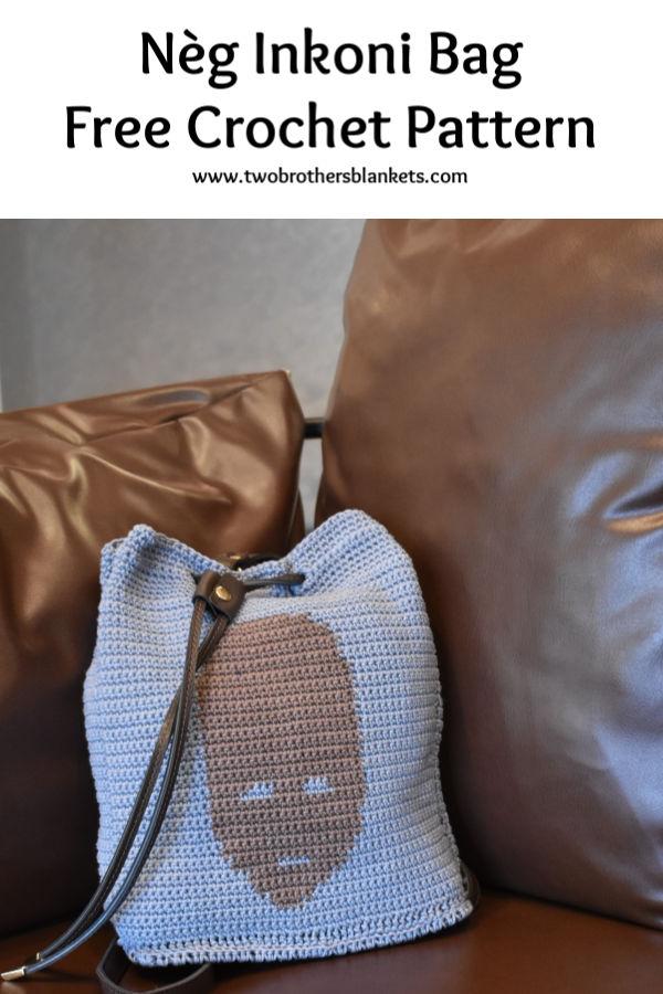 Nèg Inkoni Bag Free Crochet Pattern Pin