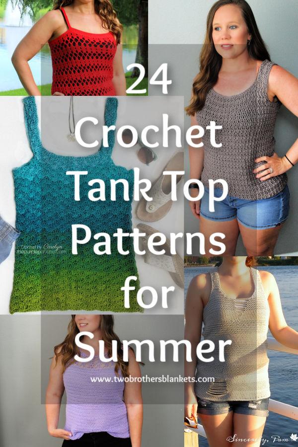 24 Crochet Tank Top Patterns for Summer