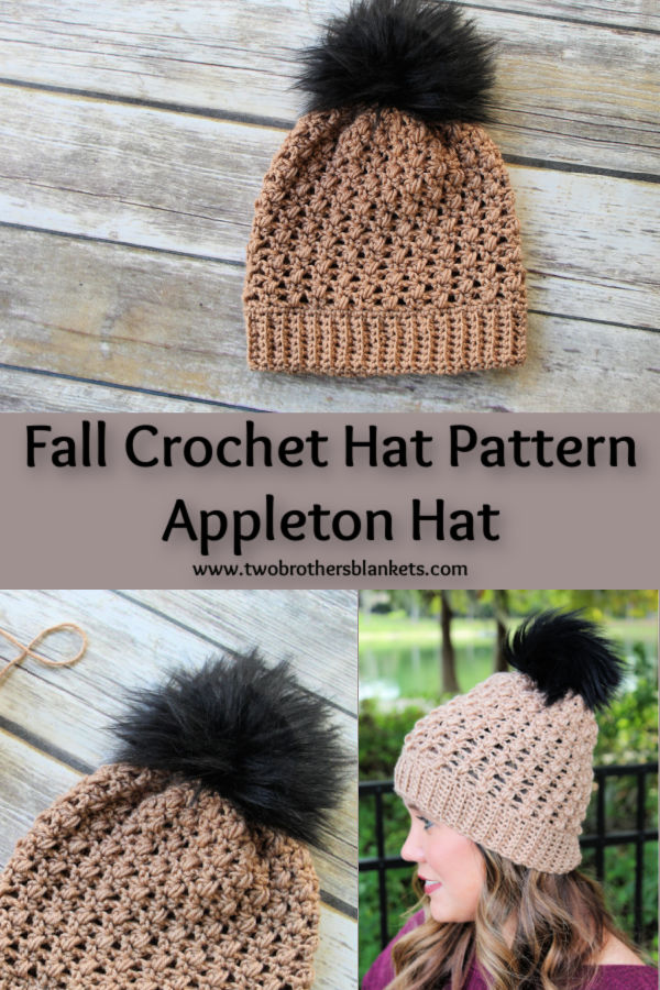 Fall Crochet Hat Pattern - Appleton Hat