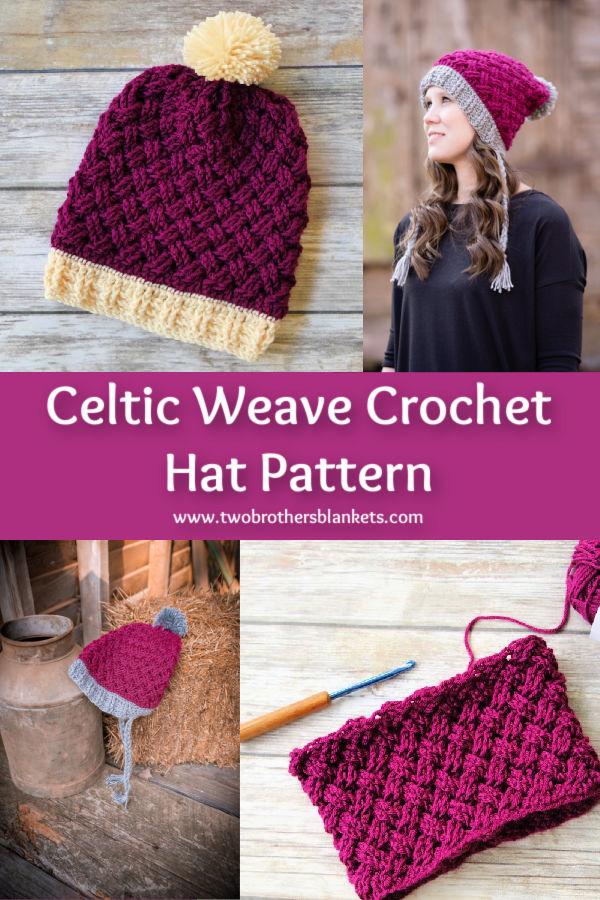 Celtic Weave Crochet Hat Pattern