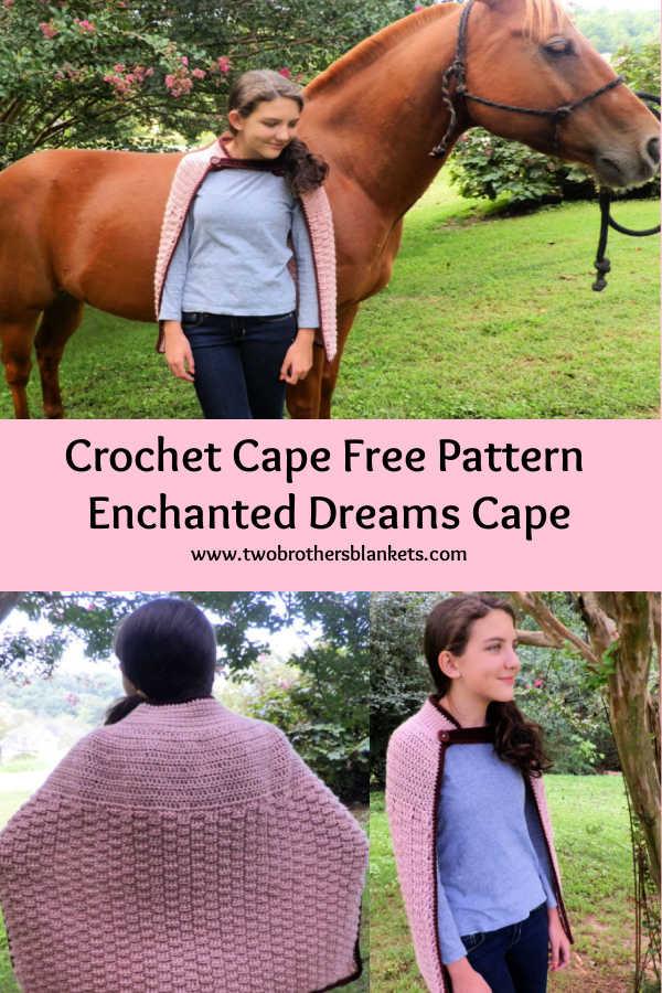 Crochet Cape Free Pattern - Enchanted Dreams Cape