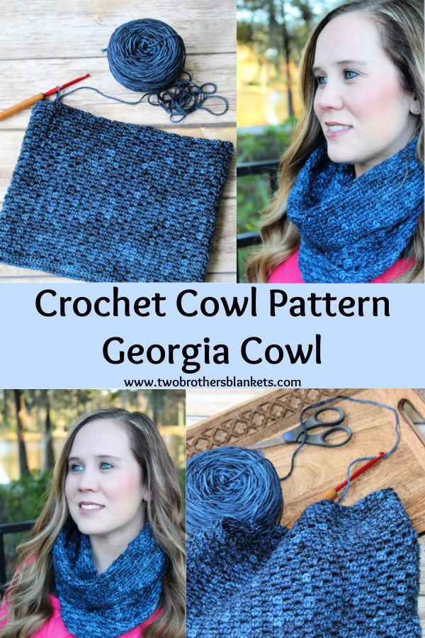 Crochet Cowl Pattern- Georgia Cowl